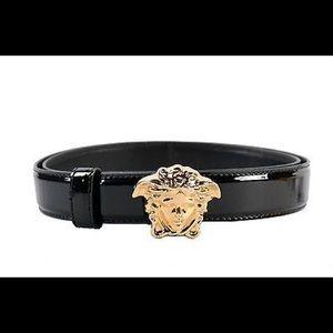 Versace  patent leather belt